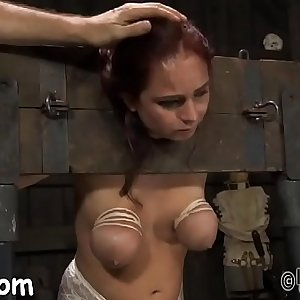 Facial cumshot punishment for pretty babe
