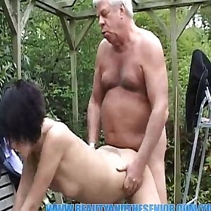 YouPorn - Old gray senior is banging a hot young chick