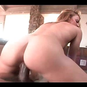 Babe with big ass riding a phallus