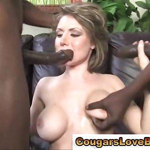 Chesty interracial mature hoe takes cocks