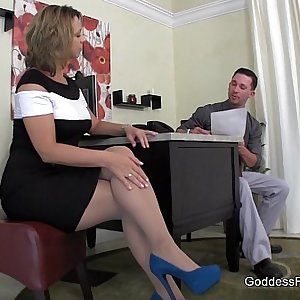 Creative Interview Technique - Footjob FootFetish