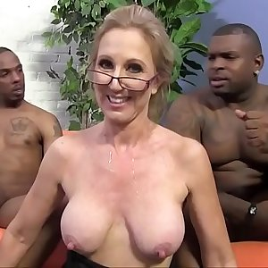Two black guys are in love with their granny teacher