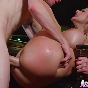 (Cathy Heaven) Big Round Oiled Ass Girl Love Hard Ass fucking Intercorse video-15