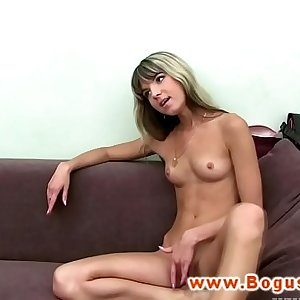 Euro casting inexperienced ass fingered while fucking