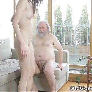 Old Goes Youthfull - Alina didnt think old men could sate her