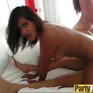 Group Sex With Real Sluty Party Girls (layla & selma) video-23