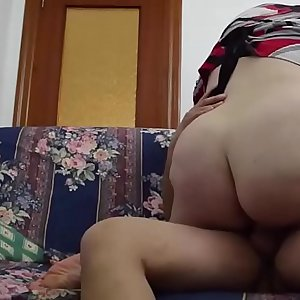 The fat butt on the sofa. JAV266