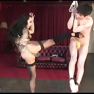 Japanese Mistress Youko Hot Wax and Human Sandbag
