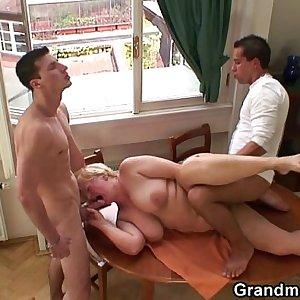 Two dudes pick up and fuck grandma