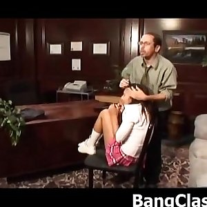 Schoolgirl loves hard principals dick