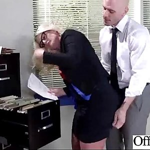 Office Busty Girl (julie cash) Get Banged Hard-core clip-16
