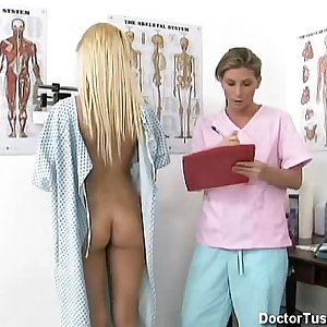 Light skin black chick with blond hair go in for a check up and pap smear