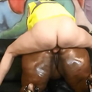 BBW Ms Marshae puke fucked & gets pounded hard by white stud