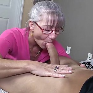 Horny Granny Sucks A Youthfull Dick