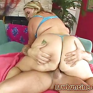 Nasty Horny BBW pounding guy