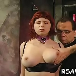 Busty bombshell in brutal bdsm act