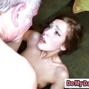 Friend brunette step daughter Molly takes cocknson2-full-hi-3