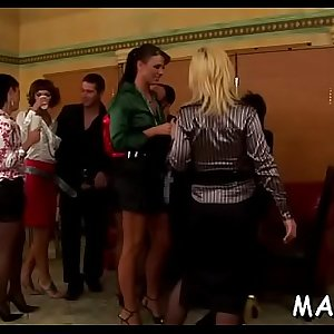 Lucky lad gets fucked by a group of smoking hot ladies