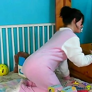 Hairy chick and her anal invasion fucktoy