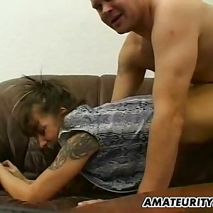 Amateur Milf home action with cum on ass