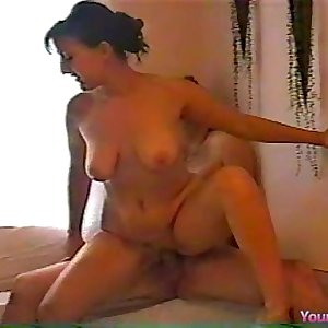 Dirty talking Colette anal creampie