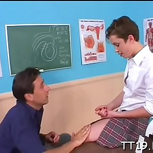Horny teacher fucks his students taut arse hard and deep