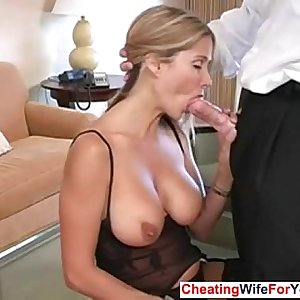 HotWifeRio Big-titted MILF loves to swallow
