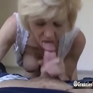 French Blonde Granny GILF Loves To Fuck For Money