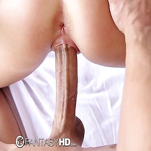 FantasyHD - Hot blonde Alexis Adams massages a cock